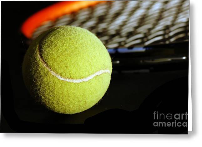 Tennis Equipment Greeting Card by Michal Bednarek