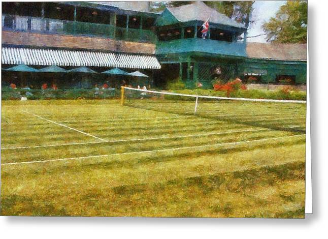 Tennis Club Greeting Cards - Tennis Hall of Fame - Newport Rhode Island Greeting Card by Michelle Calkins