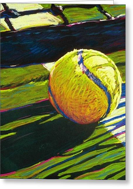 Tennis Ball Greeting Cards - Tennis I Greeting Card by Jim Grady