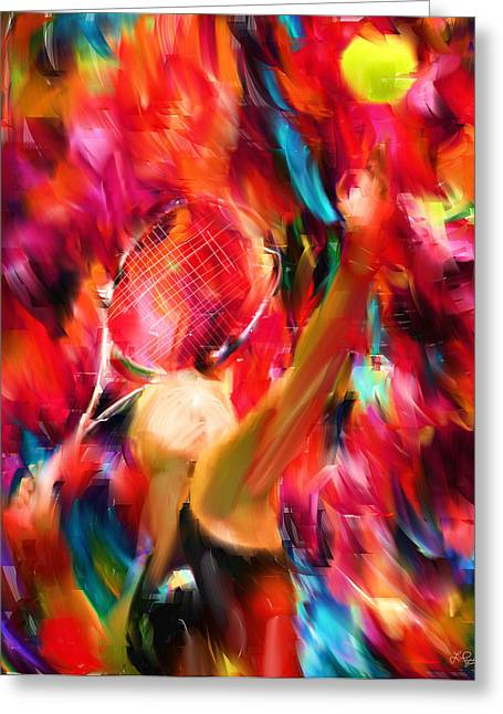 Tennis Ball Greeting Cards - Tennis I Greeting Card by Lourry Legarde