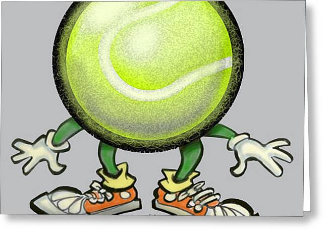 Humor Greeting Cards - Tennis Greeting Card by Kevin Middleton