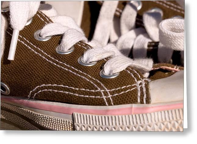 Shoe String Greeting Cards - Tennis shoes Greeting Card by Joe Belanger