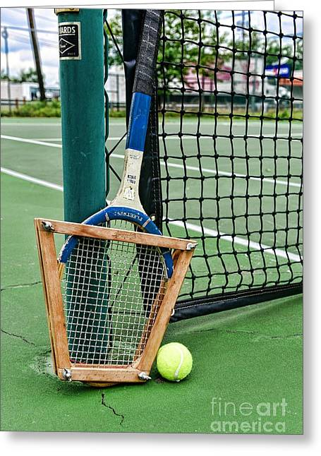 Volley Greeting Cards - Tennis - Tennis Anyone Greeting Card by Paul Ward