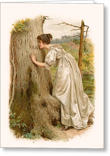 Most Greeting Cards - Tennyson s Olivia Greeting Card by George Goodwin Kilburne
