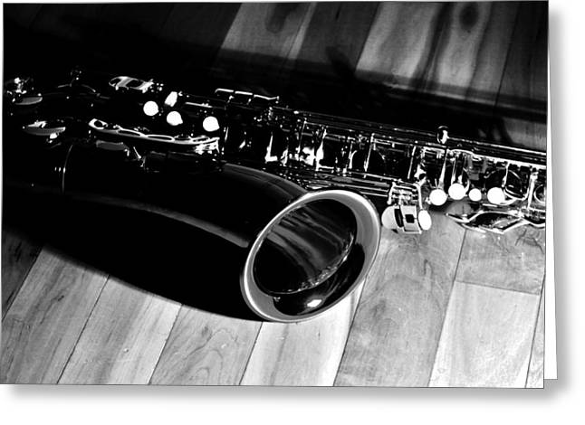 Saxophone Photographs Greeting Cards - Tenor Sax Greeting Card by Benjamin Yeager