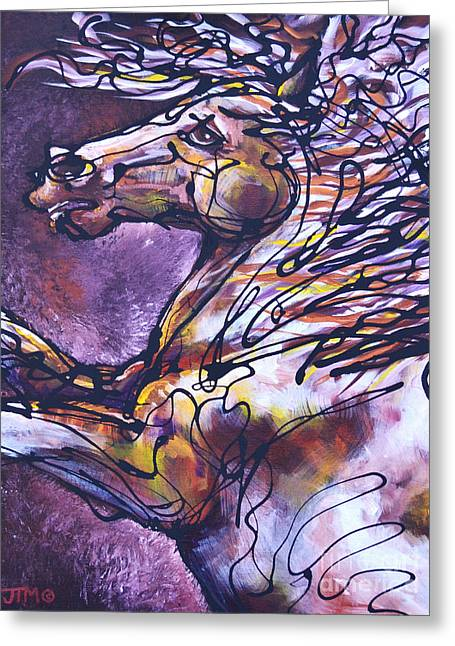 Tension Paintings Greeting Cards - Tension Greeting Card by Jonelle T McCoy
