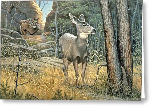 Does Greeting Cards - Tension Greeting Card by Paul Krapf