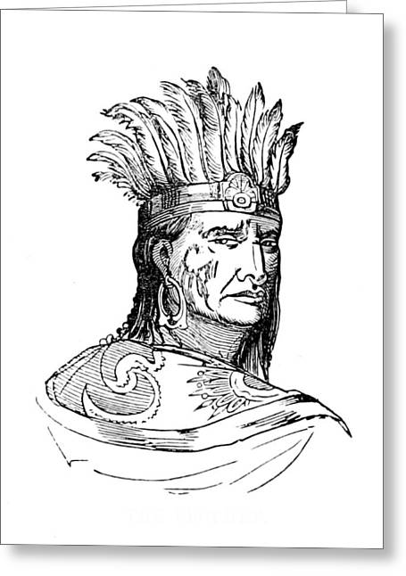 Tenskwatawa, Shawnee Indian Prophet Greeting Card by British Library
