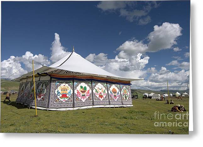 Kham Greeting Cards - Tent at Litang Horse Festival - Kham Tibet Greeting Card by Craig Lovell
