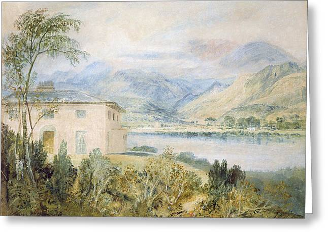 Landscape Drawings Greeting Cards - Tent Lodge, By Coniston Water, 1818 Greeting Card by Joseph Mallord William Turner