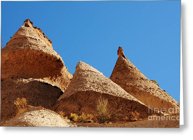 Kasha Katuwe Tent Rocks Greeting Cards - Tent Rocks Geology Greeting Card by Vivian Christopher