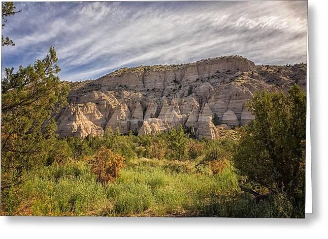 Santa Fe Greeting Cards - Tent Rocks National Monument 3 - Santa Fe New Mexico Greeting Card by Brian Harig