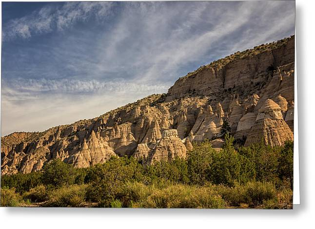 Travel Photography Greeting Cards - Tent Rocks National Monument 4 - Santa Fe New Mexico Greeting Card by Brian Harig