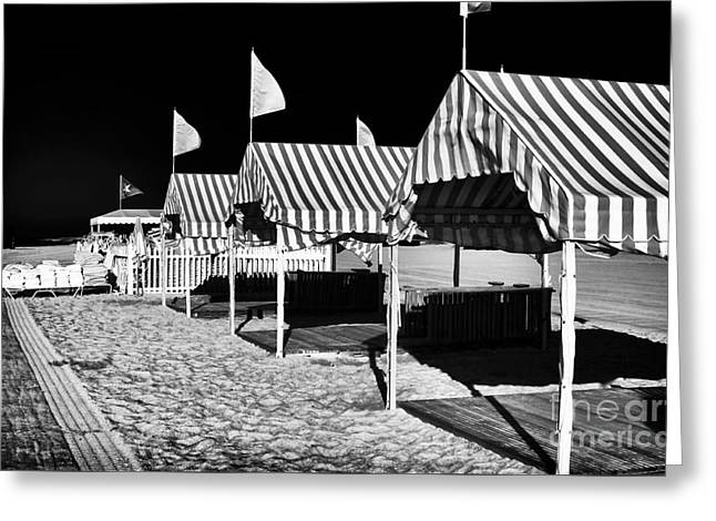 Recently Sold -  - Photo Art Gallery Greeting Cards - Tents at Cape May Greeting Card by John Rizzuto
