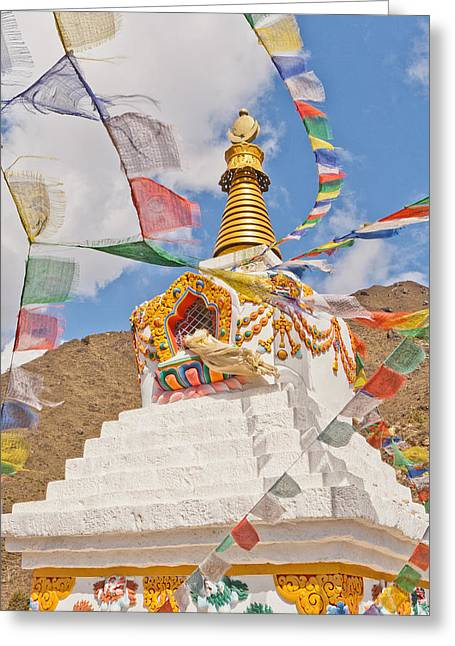 Mt Everest Base Camp Greeting Cards - Tenzing Norgay Memorial Stupa Nepal Greeting Card by Kristin Lau