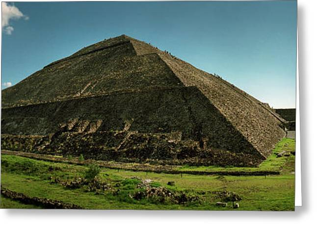 Teotihuacan Pyramids Archaeological Greeting Card by Panoramic Images