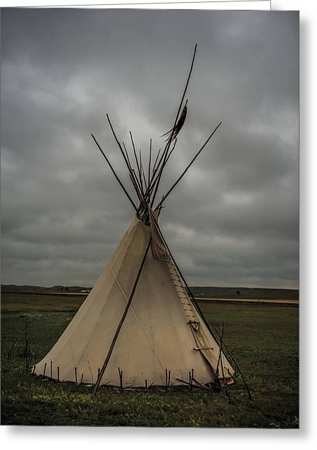 Native American Dwellings Greeting Cards - Tepee Greeting Card by Paul Freidlund