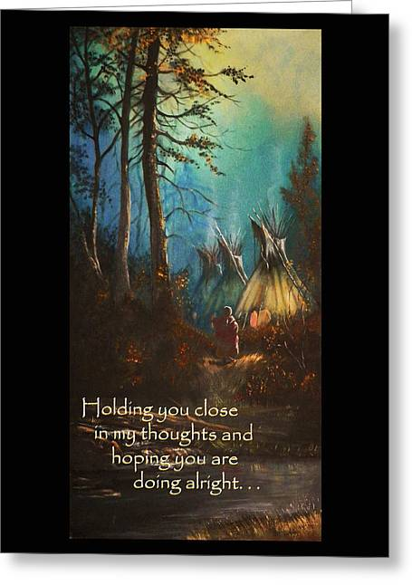 Sympathy Greeting Cards - Tepee Woman Sympathy Card Greeting Card by Michael Shone SR