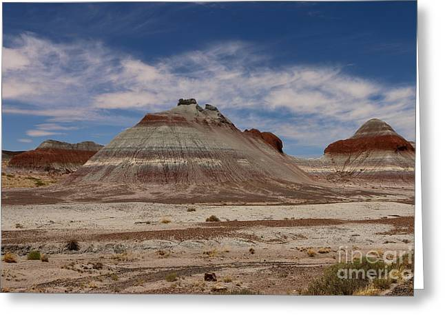 Tepees At Blue Mesa Greeting Card by Christiane Schulze Art And Photography