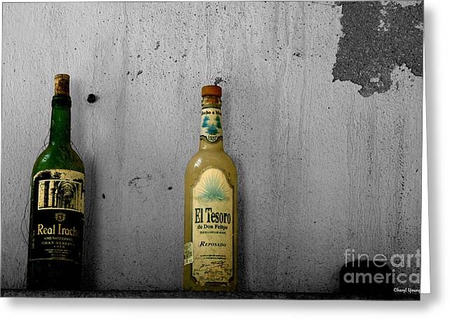 Tequila And Vino Tinto Greeting Card by Cheryl Young