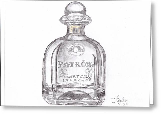 Booze Drawings Greeting Cards - Tequila Greeting Card by Linda Allan