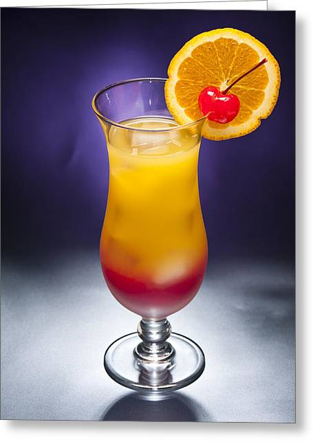 Tequila Sunrise Cocktail Greeting Card by Ulrich Schade
