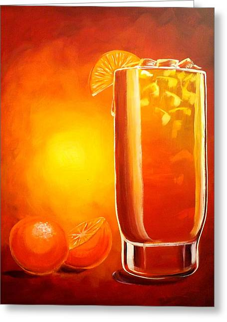 Darren Greeting Cards - Tequila Sunrise Greeting Card by Darren Robinson