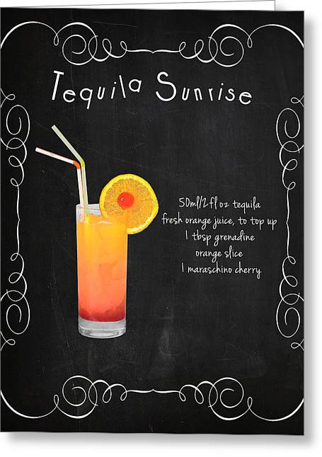 Tequila Greeting Cards - Tequila Sunrise Greeting Card by Mark Rogan