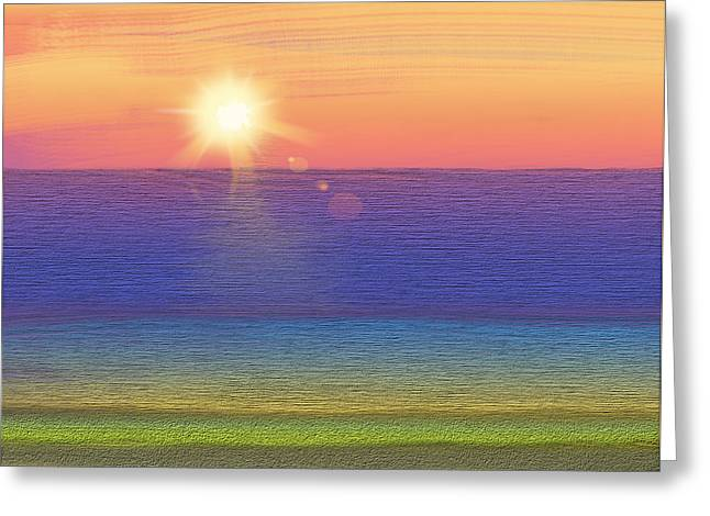 Ultra Modern Greeting Cards - Tequila Sunrise to Remember Greeting Card by Serge Averbukh