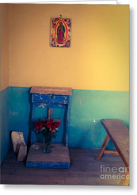 Terlingua Texas Greeting Cards - Terlingua Church Offering Greeting Card by Sonja Quintero
