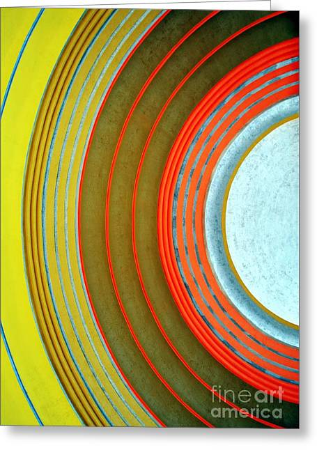 Train Depot Greeting Cards - Terminal Art Greeting Card by Mel Steinhauer
