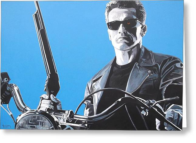 The Terminator Greeting Cards - Terminator Ill be back Greeting Card by Patrick Killian
