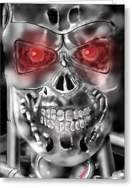 Sketchbook Digital Greeting Cards - Terminator Greeting Card by John Martinez