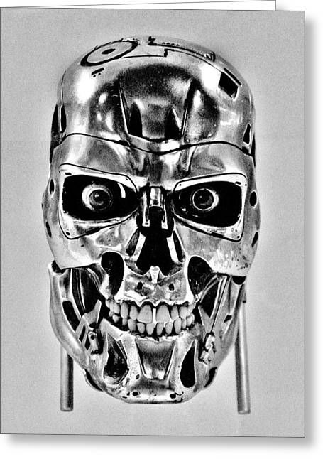 The Terminator Greeting Cards - Terminator T-800 Greeting Card by Benjamin Yeager