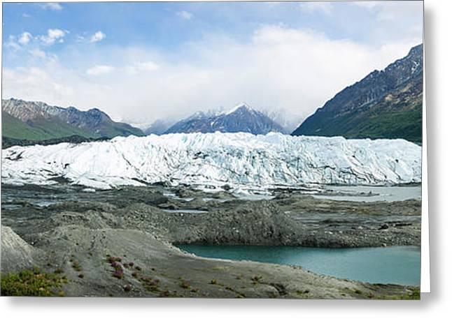 Terminus Of Matanuska Glacier Greeting Card by Panoramic Images