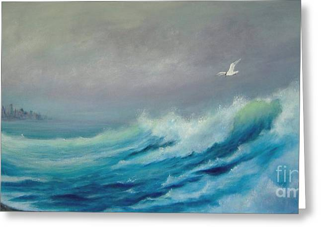 Tern Paintings Greeting Cards - Tern Right Greeting Card by Rita Palm