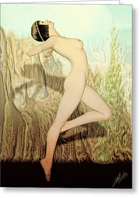 Dance Of Joy Greeting Cards - Terpsichore Muse of Dance By Quim Abella Greeting Card by Joaquin Abella