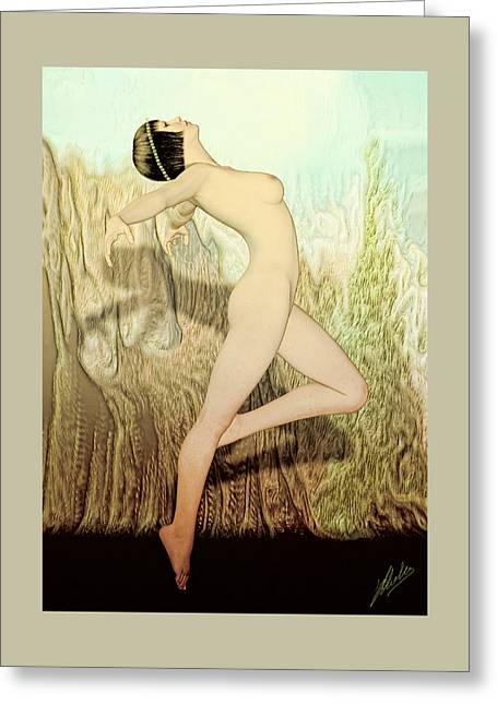 Dance Of Joy Greeting Cards - Terpsichore Muse of Dance  Greeting Card by Quim Abella