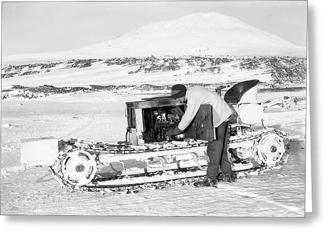 Terra Nova Antarctic Motor Sledge Greeting Card by Scott Polar Research Institute