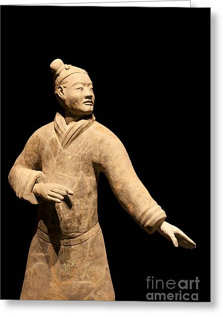 Qin Greeting Cards - Terracotta Warrior in Xian China Greeting Card by Fototrav Print
