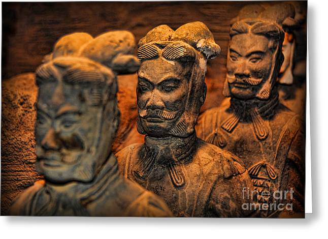 Old Relics Greeting Cards - Terracotta Warriors - The Emperors Army Greeting Card by Lee Dos Santos