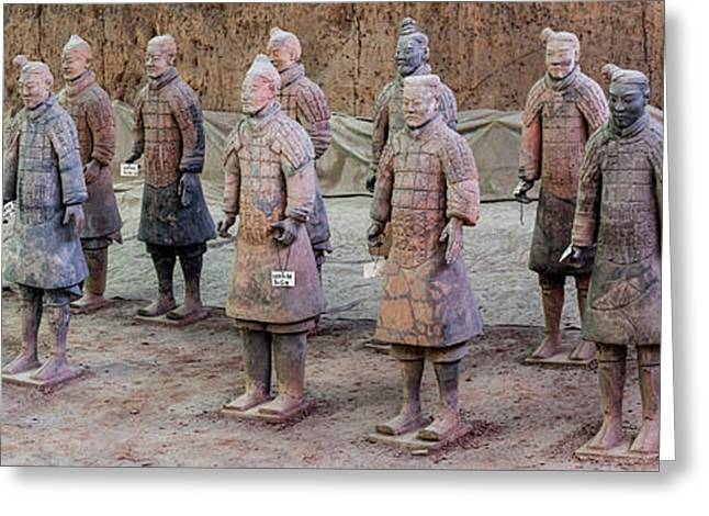 Terracotta Warriors, Xian, Shaanxi Greeting Card by Panoramic Images