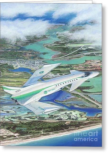 Aircraft Art Greeting Cards - Terrain Wyvern Greeting Card by Stu Shepherd