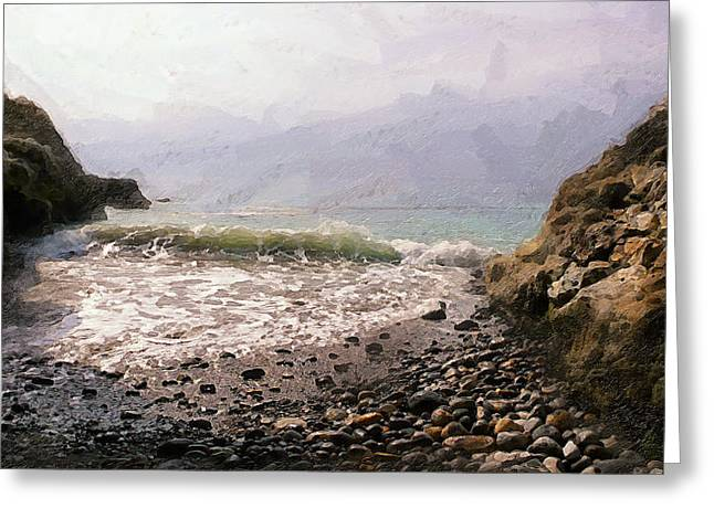 Palos Verdes Cove Greeting Cards - Terranea Cove Greeting Card by Ron Regalado