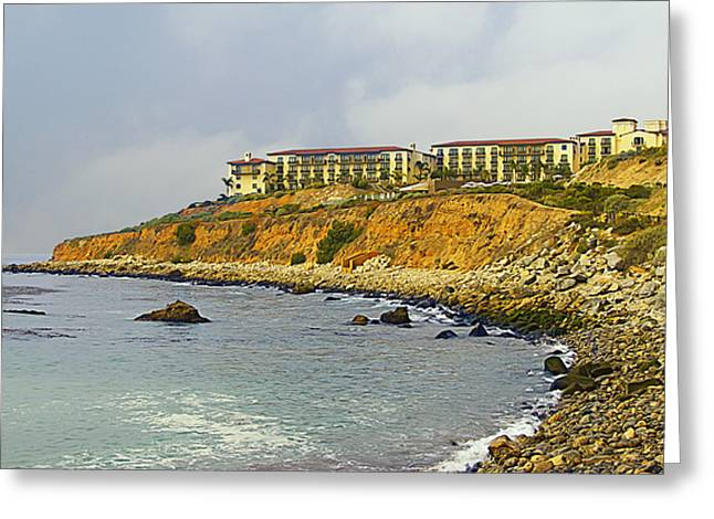 Hotels And Resorts Greeting Cards - Terranea Resort Greeting Card by Ron Regalado