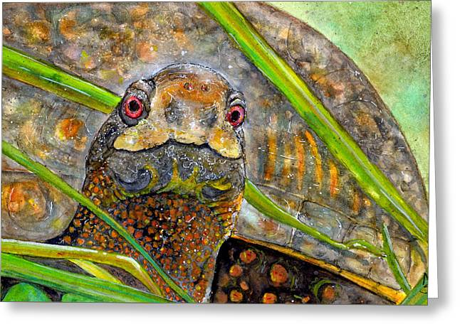 Terry Trudges The Tundra Greeting Card by Marie Stone Van Vuuren