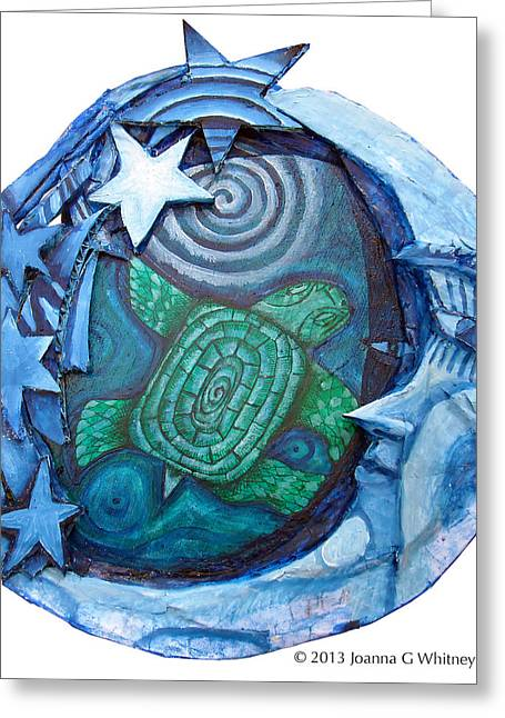 Mythological Greeting Cards - Terrapin Greeting Card by Joanna Whitney