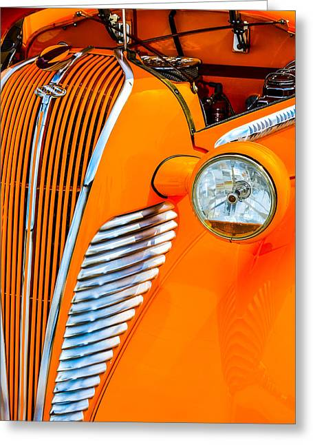 Terraplane Grille Greeting Card by Carolyn Marshall
