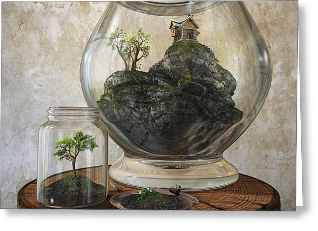 Terrarium Greeting Card by Cynthia Decker