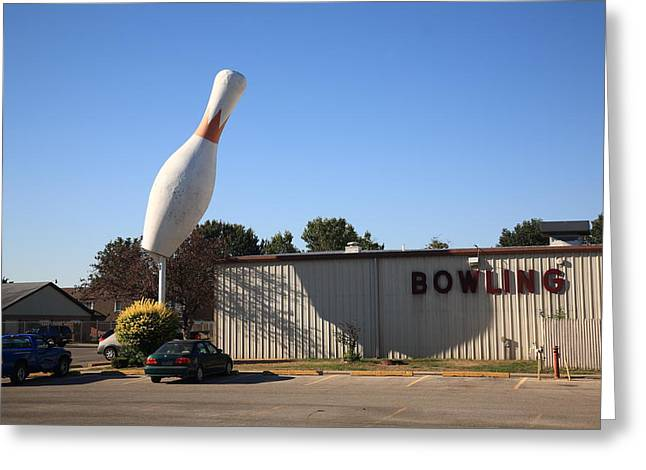 Indiana Photography Greeting Cards - Terre Haute - Giant Bowling Pin Greeting Card by Frank Romeo